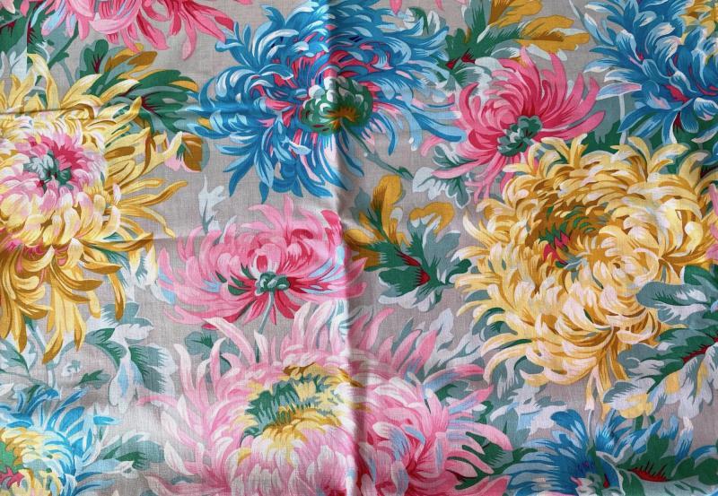 Chrysanthemen in Pink Türkis Grau von Philip Jacobs