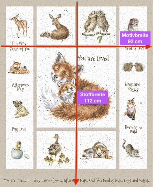 "Panel ""Love is... Tiere, Babys und Kindergarten"""