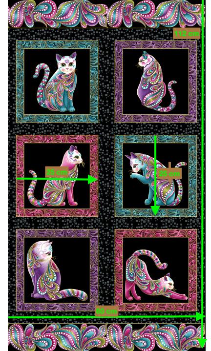 Cat-i-tude Panel schwarz von Ann Lauer