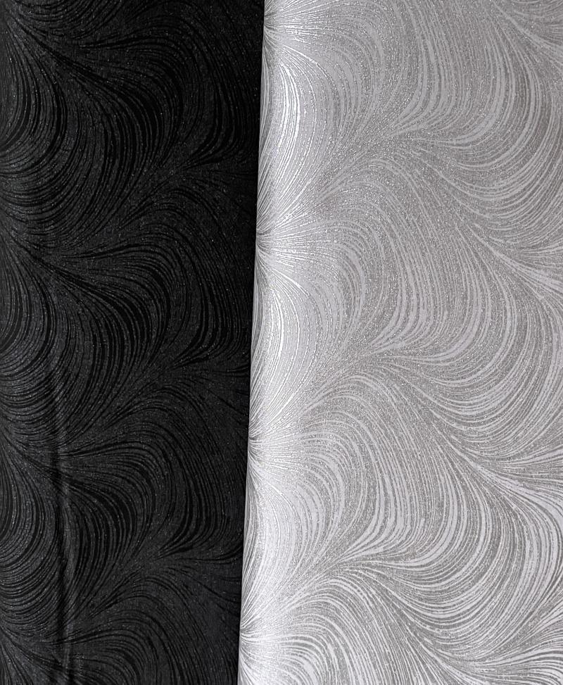 Waves Pearlescent schwarz silber