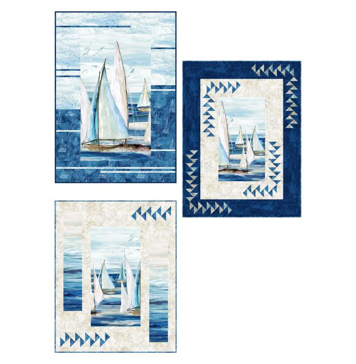 Sail Away - Seglermotive auf sand
