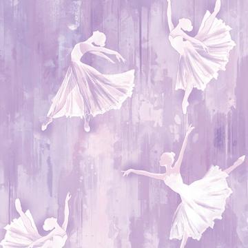 Ballerina Silhouette auf lila