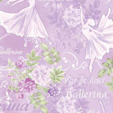Ballerinas und Rosen auf lila