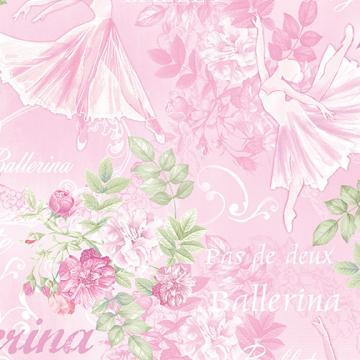 Ballerinas und Rosen auf rosa