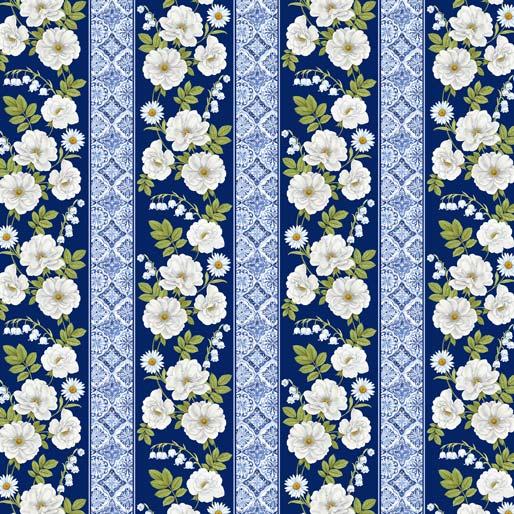Blue & White Elegance - Bordüre