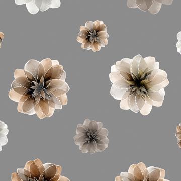 Blüten mit Perlmutt-Schimmer auf grauem Grund