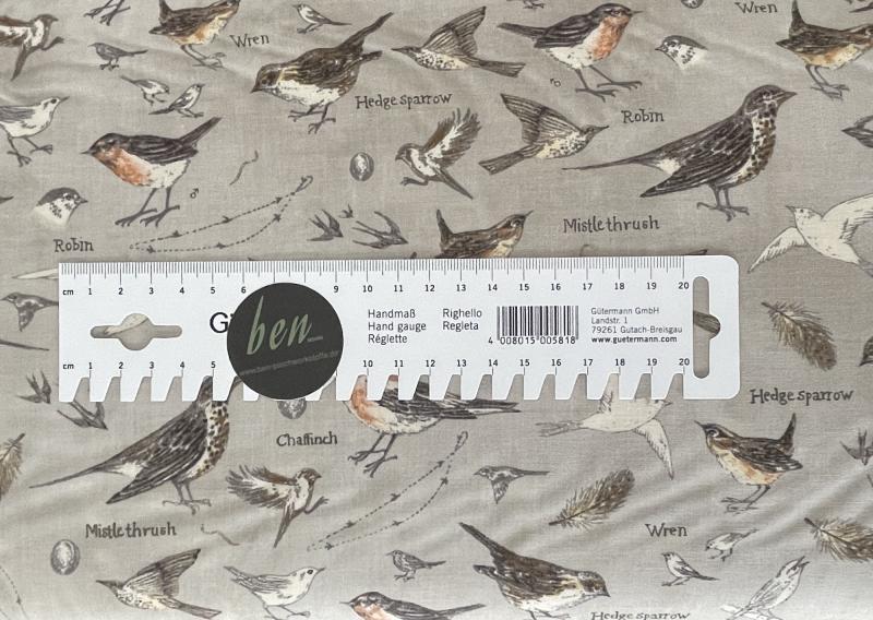 Botanicals - Vögel Vintage Grey