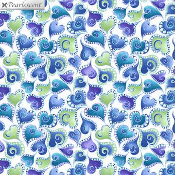 Cat-I-tude - kleine blaue Herzen auf weiß