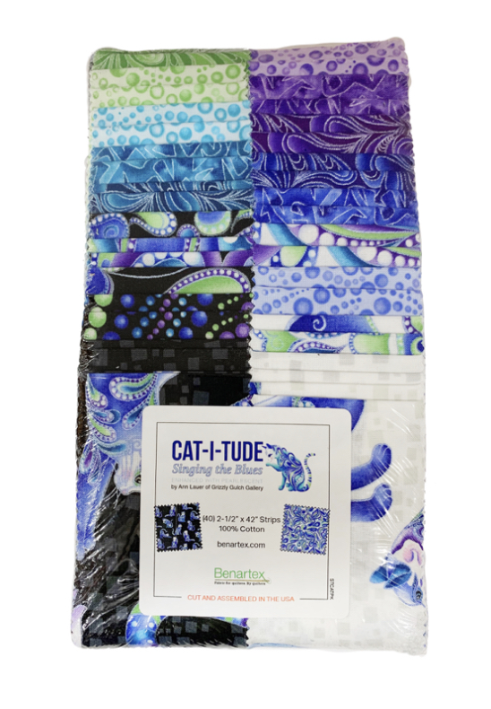 "Cat-i-tude Blue Strip Roll 2,5"""