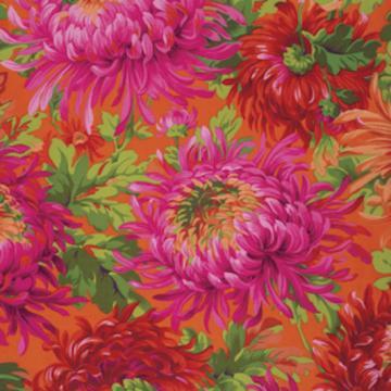 Chrysanthemen in pink orange grün von Philip Jacobs