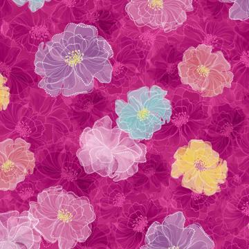 Fantasie Blumen pink