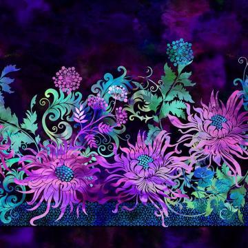 Floragraphix V - Bordüre Purple