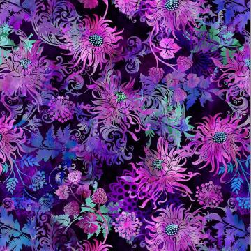 Floragraphix V - Floral allover Purple