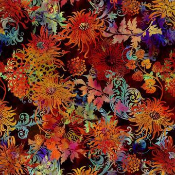Floragraphix V - Floral allover multi