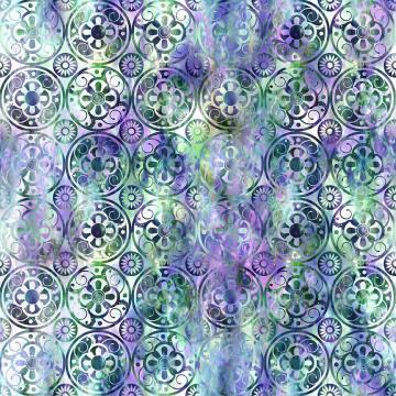 Floragraphix V - Medallions green/purple