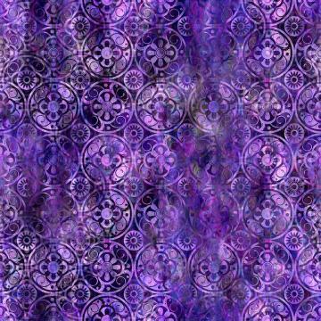Floragraphix V - Medallions purple