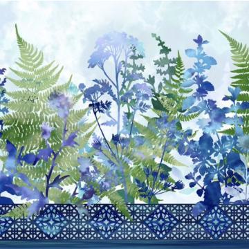 Haven - Bordüre Blue