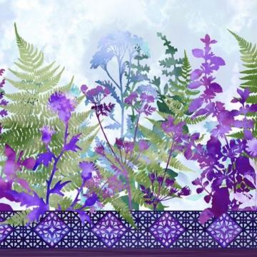 Haven - Bordüre Purple