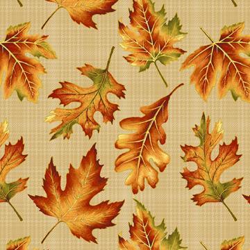 Herbstblätter auf beige Autumn