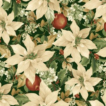 Weihnachtliche Blüten in creme und grün