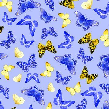 Schmetterlinge auf hellblau