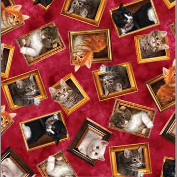 Literary Kitties Galerie auf rot