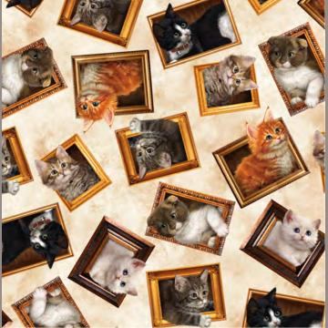 Literary Kitties Galerie auf creme