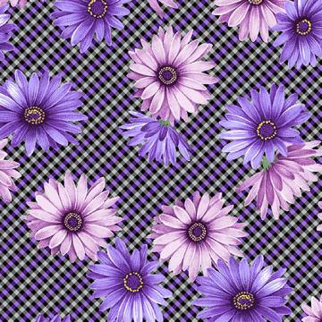 Miss Marguerite - Plaid Purple