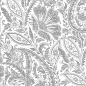 Paisley grau weiß
