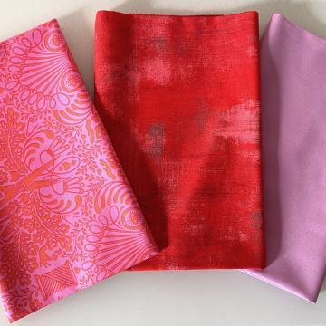 Paket Tula Pink - Getting Snippy Morning in Pink Orange