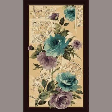 Panel Blumen nostalgisch Türkis Violett