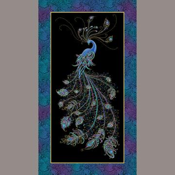 Panel Peacock Black
