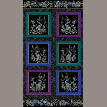 Panel Peacock Box schwarz