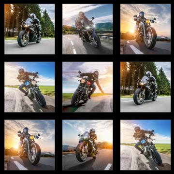 """Panel """"Motorräder"""" schwarz"""