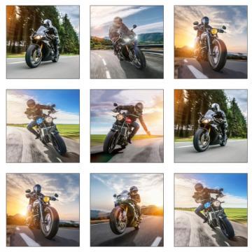 """Panel """"Motorräder"""" weiß"""