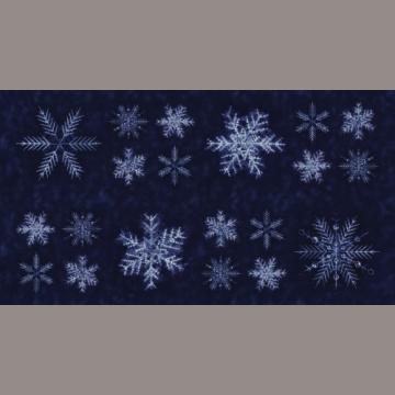 """Panel """"Schneeflocken auf dunkelblau"""" Debby Maddy"""