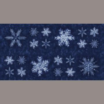 """Panel """"Schneeflocken auf mittelblau"""" Debby Maddy"""
