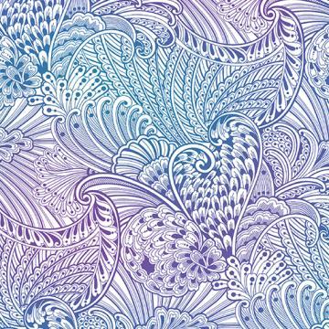 Peacock Flourish Opulence Mottled White