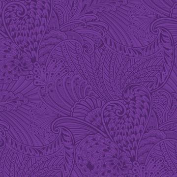 Peacock Flourish Opulence Tonal Dark Purple