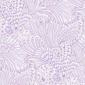 Peacock Flourish Opulence Tonal Light Purple