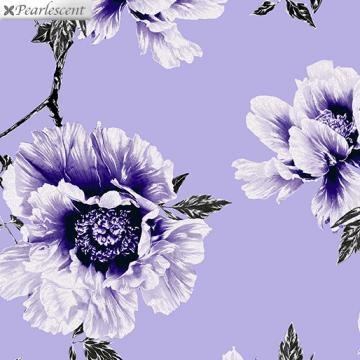 Perlmutt Blumen auf Lila - Violet Twilight