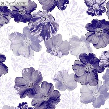 Perlmutt lila Blumen auf weiß - Violet Twilight