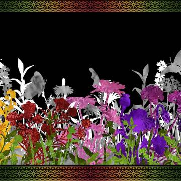 Rainbow of Jewels - Bordüre