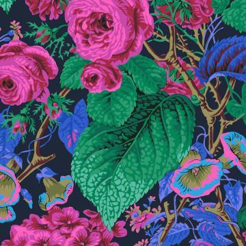 Rose and Hydrangenas Navy von Philip Jacobs