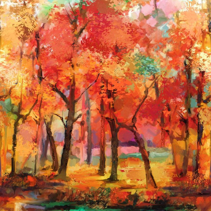 September Morning - Wald