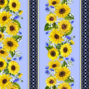 Sonnenblumen/Kornblumen Bordüre