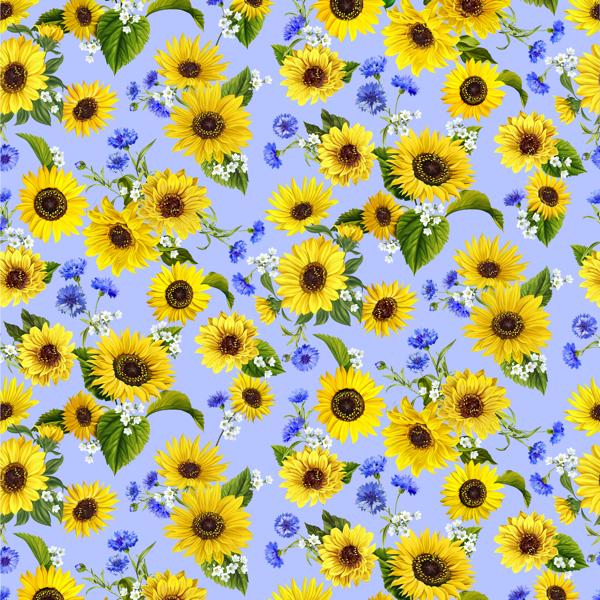 Sonnenblumen auf hellblau