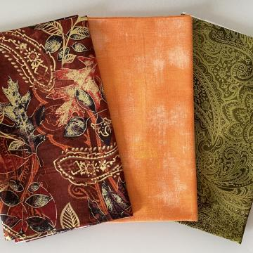 Stoffpaket Herbst Gold Paisley