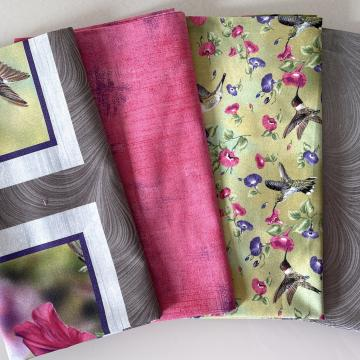 Stoffpaket Kolibri pink