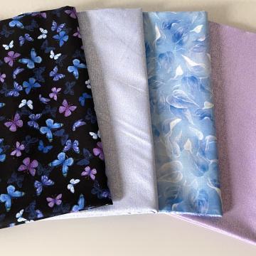 Stoffpaket Schmetterlinge Glamour